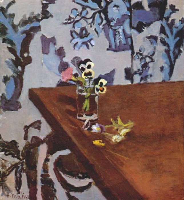 pansies on a table c1918. Henri Matisse