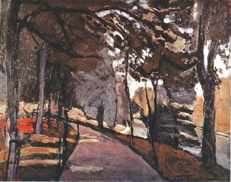 The path in the Bois de Boulogne, 1902, Oil on canva. Henri Matisse