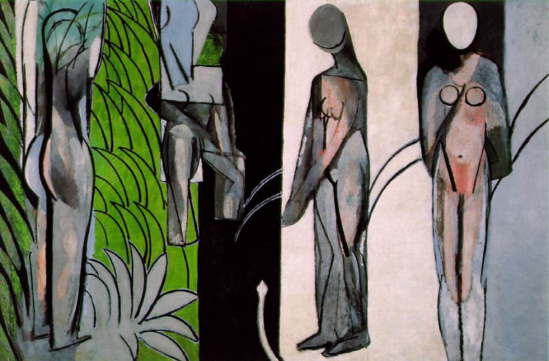 Bathers by a River, 1909, 1913 och 1916, 259.7x389.9. Henri Matisse