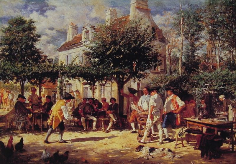 Sunday in Poissy. Jean-Louis Ernest Meissonier