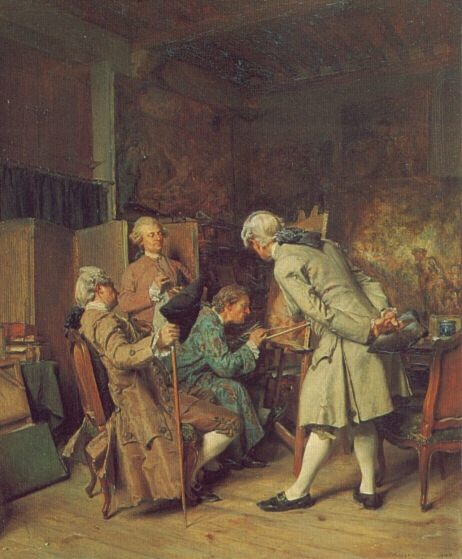 The Lovers of Painting. Jean-Louis Ernest Meissonier