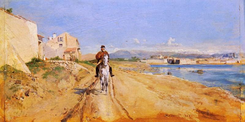 Self Portrait Along The Route De La Salice Antibes. Jean-Louis Ernest Meissonier