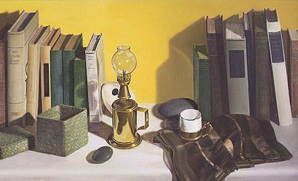 Lamp and Books. Linda Mann