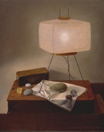 Noguchi Lamp with Stones. Linda Mann
