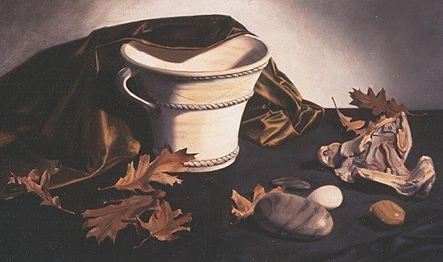 Ваза и листья. Линда Манн