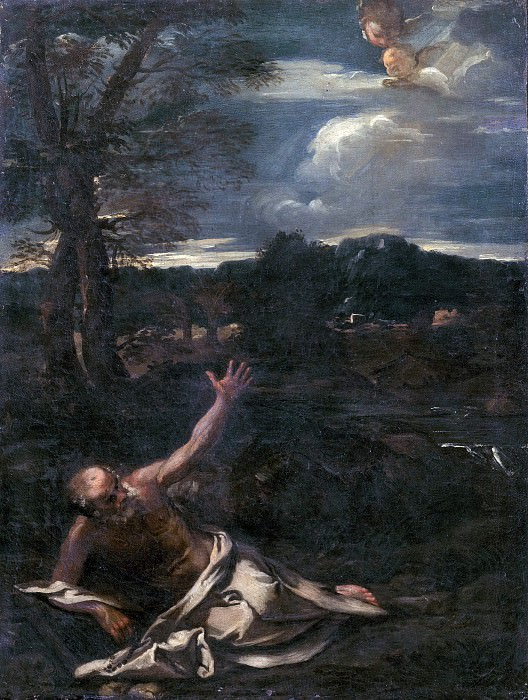 Saint Jerome in the Countryside (Attr). Pier Francesco Mola
