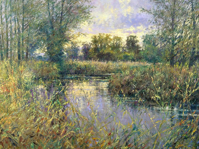 River Deben, Near Wickham Market, Suffolk, Charles Neal, 199. Near Wickham Market