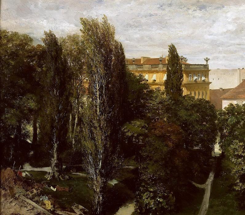 Palace garden of Prince Albrecht. Adolph von Menzel