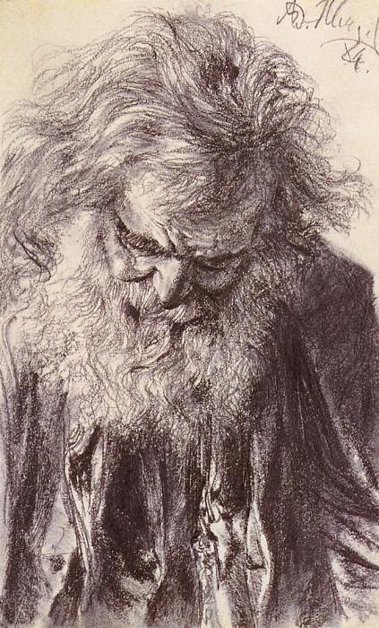 Портрет старика. Адольф фон Менцель