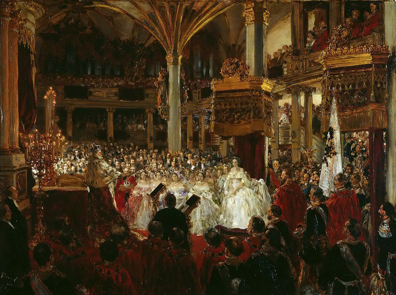 The Coronation of William I at Konigsberg in 1861. Adolph von Menzel