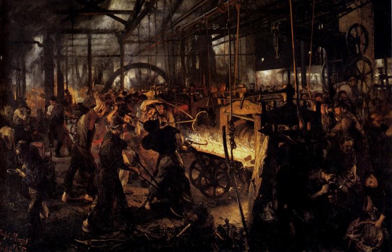 The Foundry. Adolph von Menzel