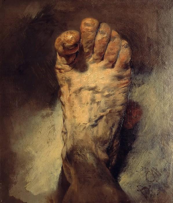 The foot of the artist. Adolph von Menzel