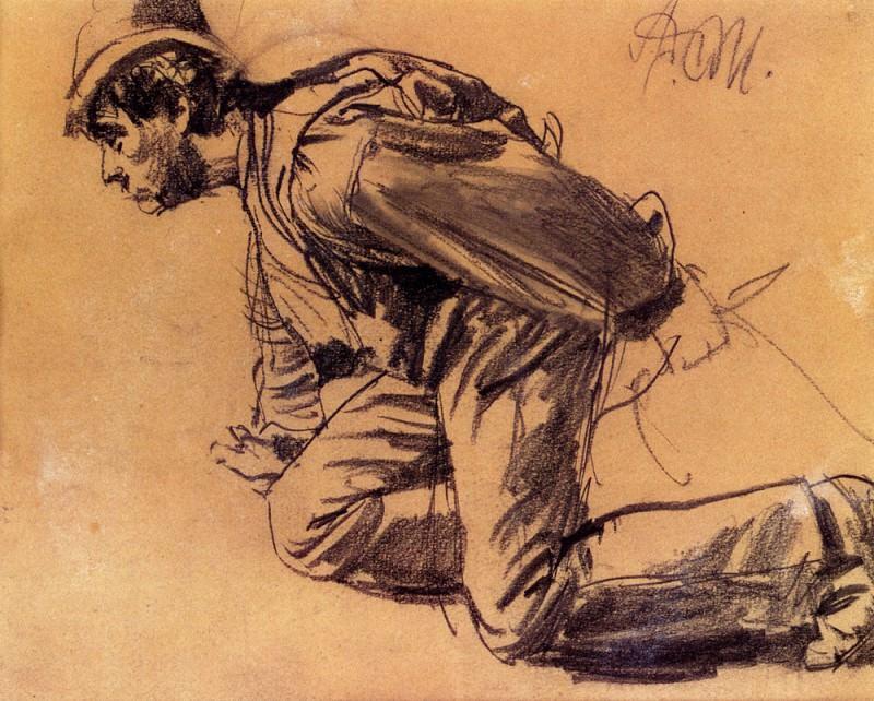 Study Of. Adolph von Menzel