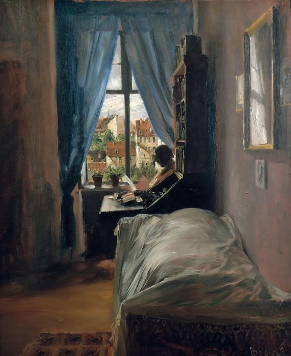 The Artists Bedroom in Ritterstasse. Adolph von Menzel