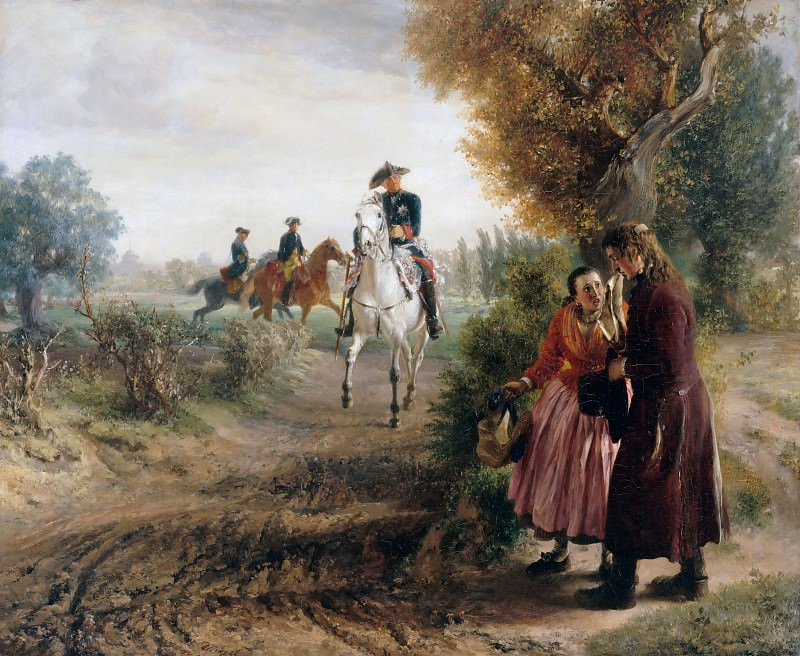 The petition (The horse ride). Adolph von Menzel