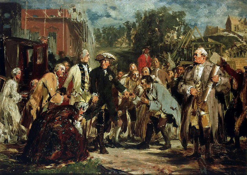 Frederick the Great on trips. Adolph von Menzel