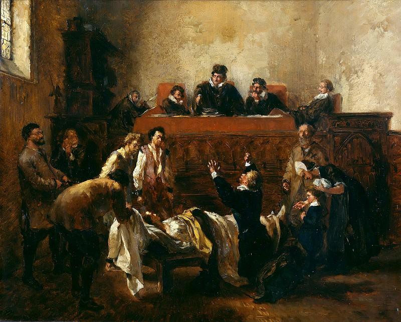 The judgment. Adolph von Menzel