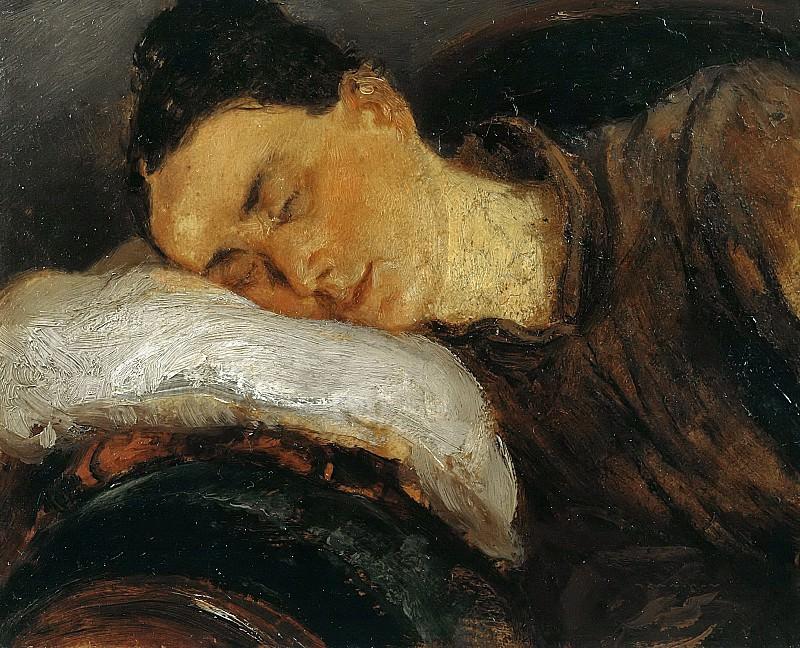Спящая женщина. Адольф фон Менцель