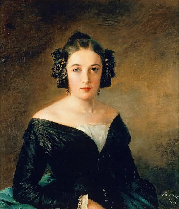 Portrait of Friederike Arnold. Adolph von Menzel