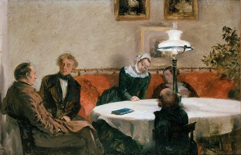 Evening party. Adolph von Menzel