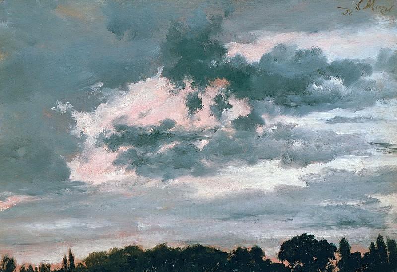 Study of clouds. Adolph von Menzel