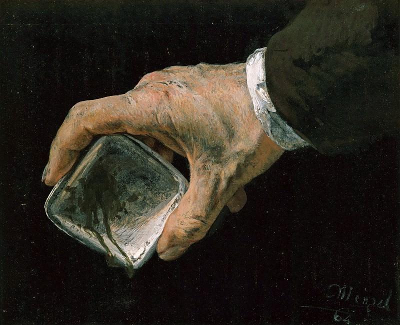 Handstudie I. Adolph von Menzel