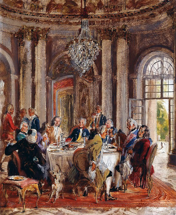 Frederick the Greats Dinner Party at Sanssouci. Adolph von Menzel