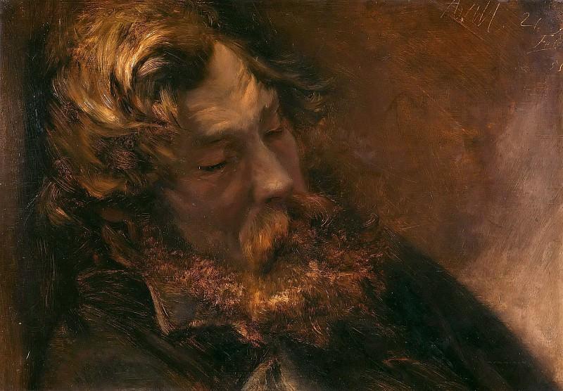 Спящий мужчина. Адольф фон Менцель