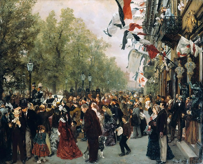 Departure of King Wilhelm I for the Front on July 31, 1870. Adolph von Menzel