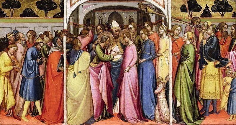 Брак Марии и Иосифа. Томмазо дель Мацца (Мастер Санта-Вердианы)
