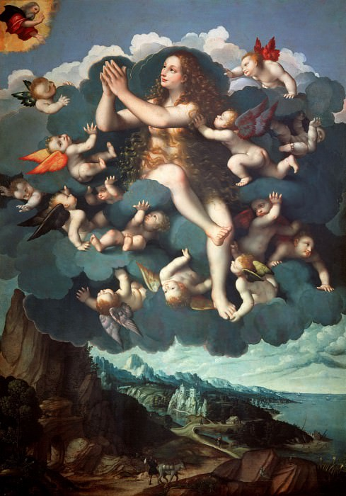 Assumption of Mary Magdalen. Marco d'Oggiono