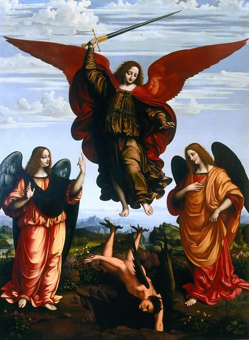 Three Archangels. Marco d'Oggiono