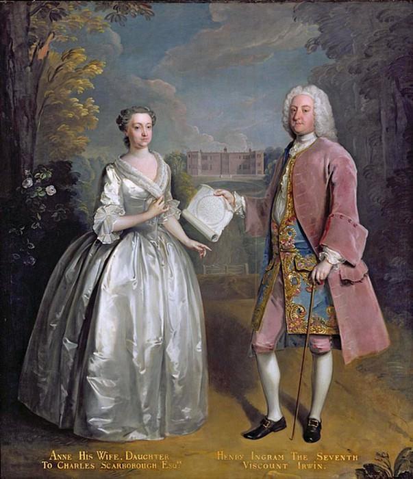Генри седьмой виконт Ирвин и его жена Энн. Филипп Мерсье