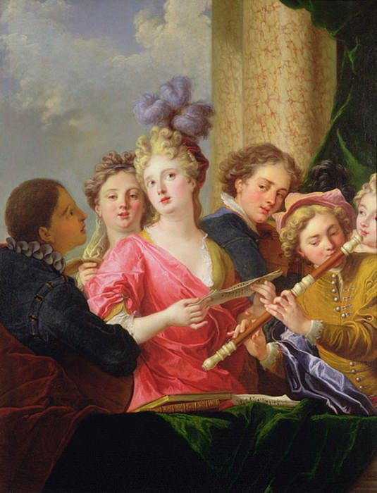 A Music Party. Philippe Mercier