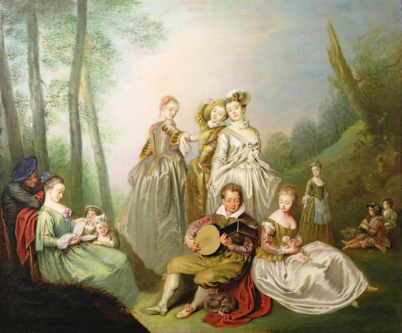 A Musical Family. Philippe Mercier