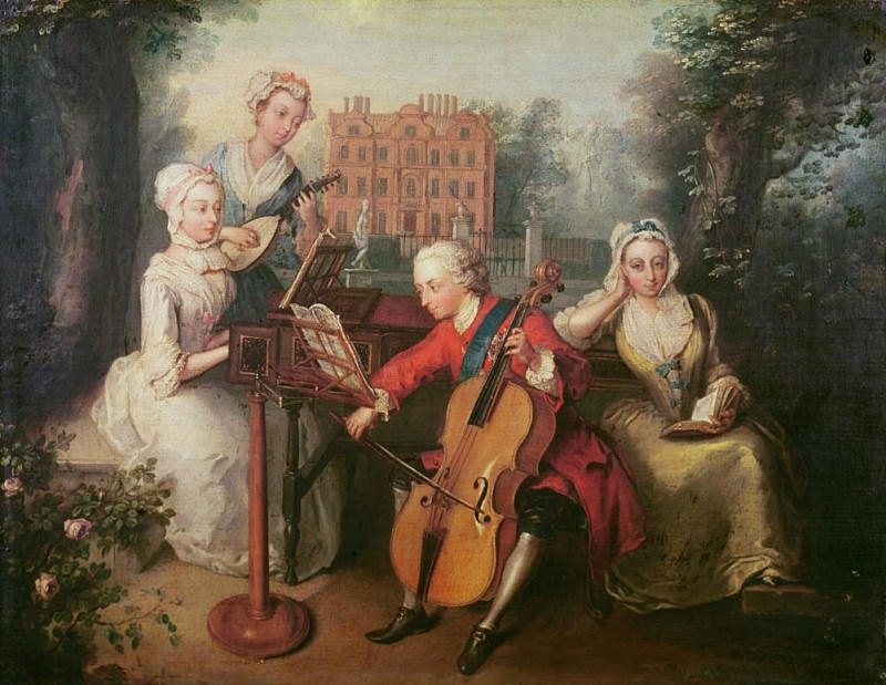 Frederick, Prince of Wales and his Sisters. Philippe Mercier