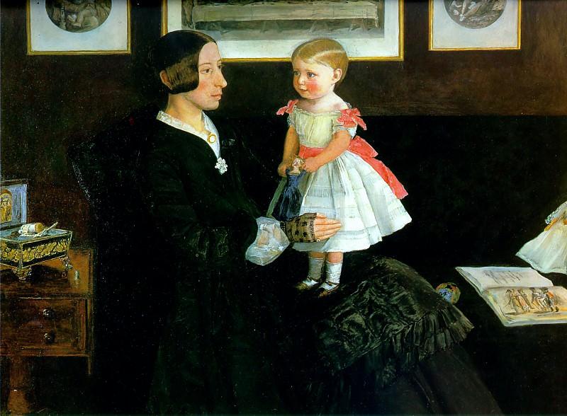 Portrait of Mrs James Wyatt. John Everett Millais