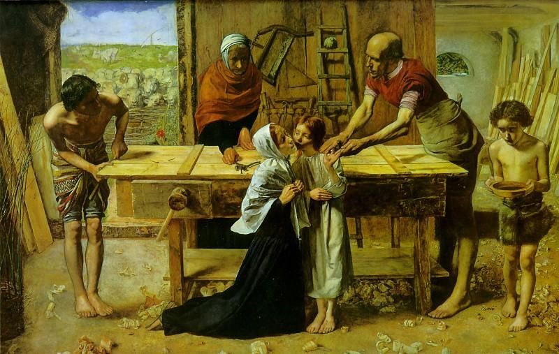 Christ carpenter. John Everett Millais