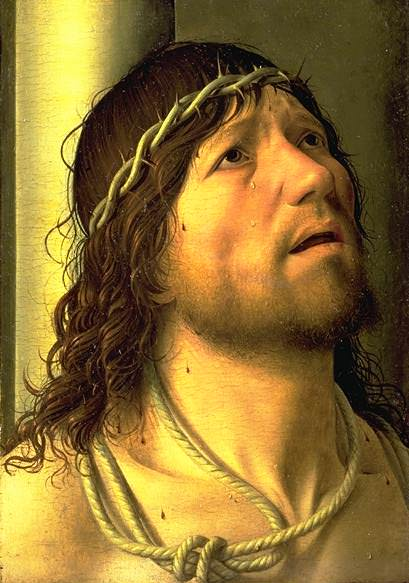 Christ At The Column Detail. Antonello da Messina