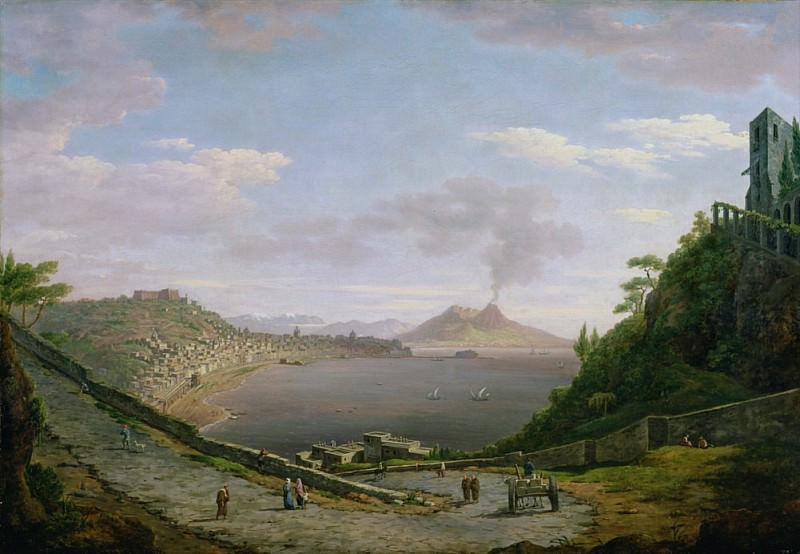 View of the Bay of Naples with Mount Vesuvius in the Distance. William Marlow