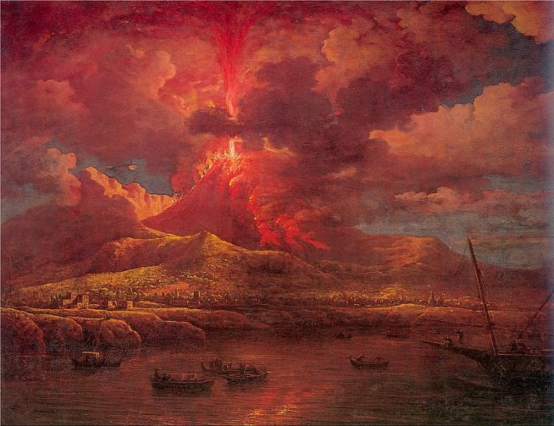 Vesuvius Erupting at Night. William Marlow