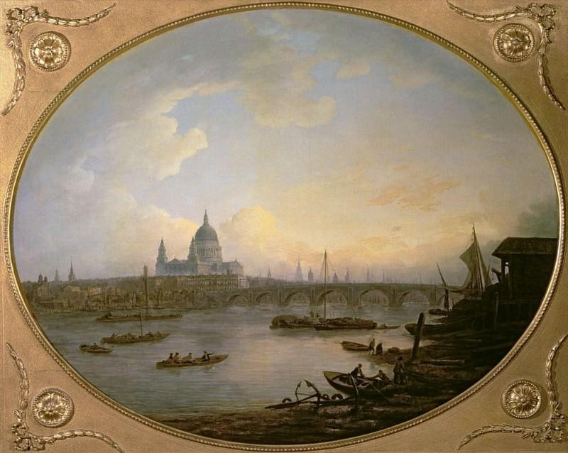 Blackfriars Bridge and St. Pauls Cathedral. William Marlow