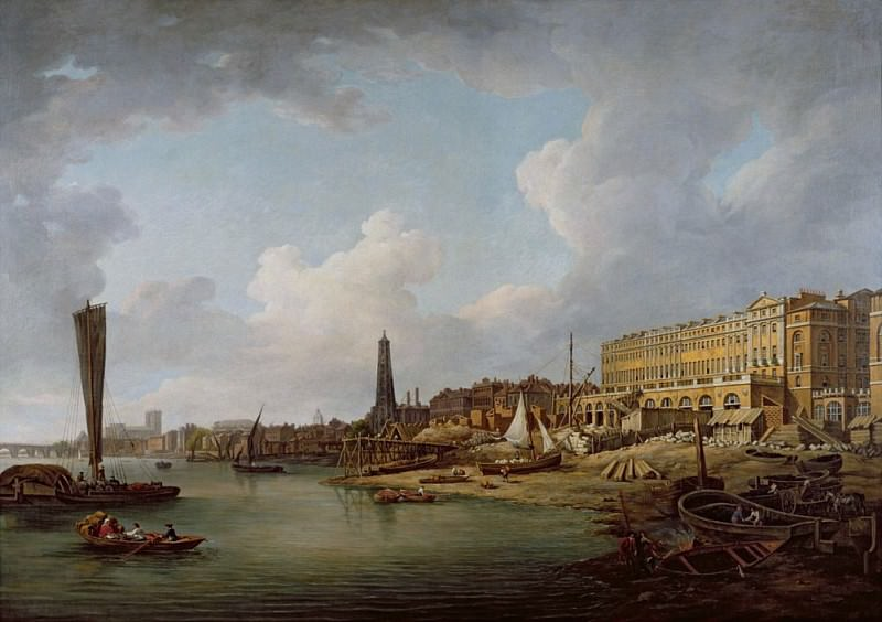 The London Riverfront from Westminster to the Adelphi. William Marlow