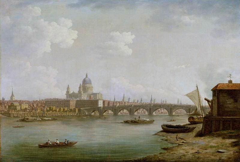 St. Pauls and Blackfriars Bridge, London. William Marlow