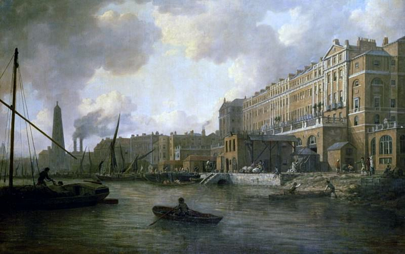 View of the Adelphi From the River Thames. William Marlow