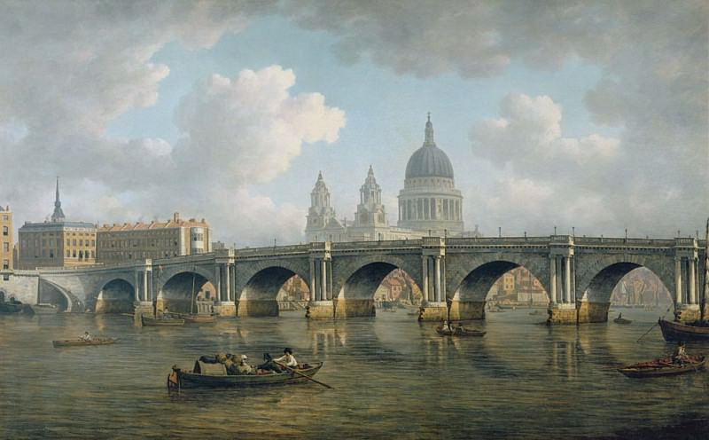 Blackfriars Bridge and St. Pauls Cathedral. William Marlow