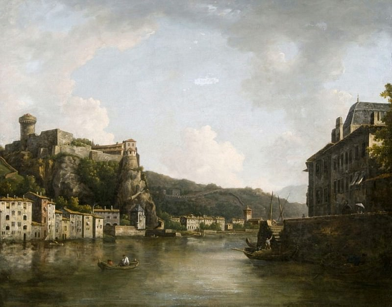 View of the Chateau de Pierre-Encise on the Rhone, Lyon. William Marlow