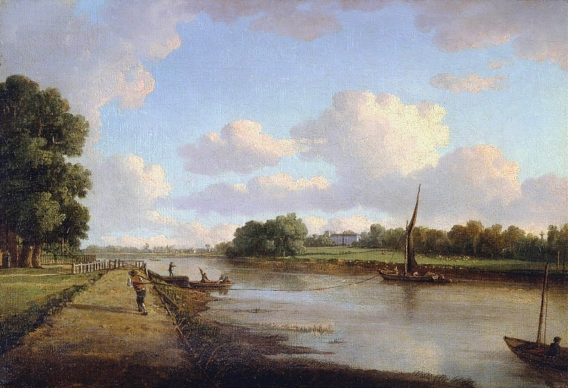 View on the River Thames at Richmond (?). William Marlow