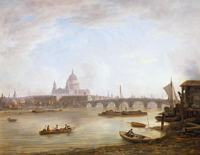 St Pauls and Blackfriars Bridge. William Marlow