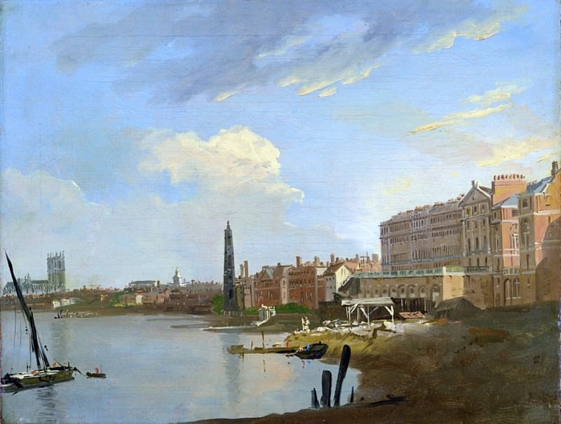 A Study of the Thames with the Final Stages of the Adelphi. William Marlow